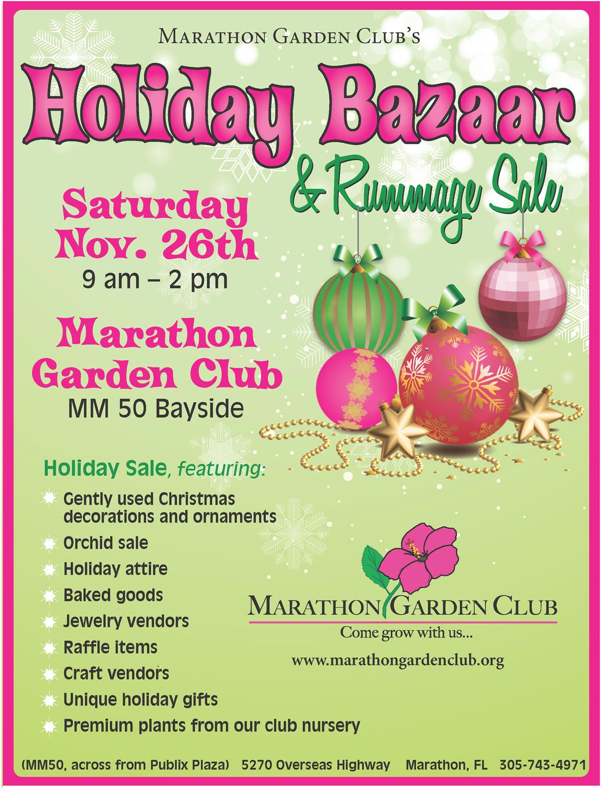. Marathon Garden Club Holiday Bazaaar